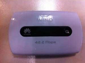 huawei e5251 - wireless box che consente di connettersi ad internet via wifi o USB.